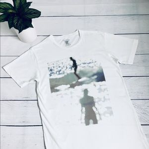 Freedom Artists White surf theme T-shirt S